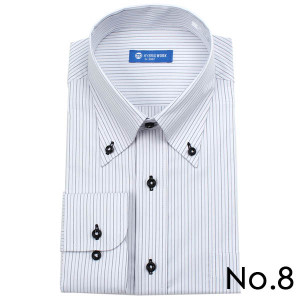 ストレッチシャツ メンズ ビジネス ノーアイロン 長袖 ストレッチ ワイシャツ Yシャツ 形態安定 形状記憶 ボタンダウン レギュラー|tresta|18