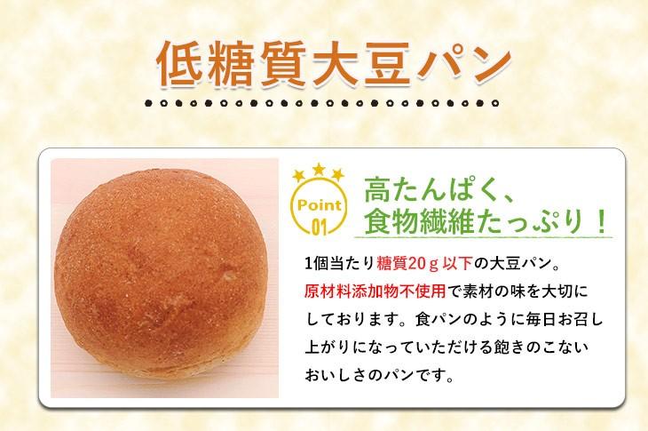 低糖大豆パンのポイント