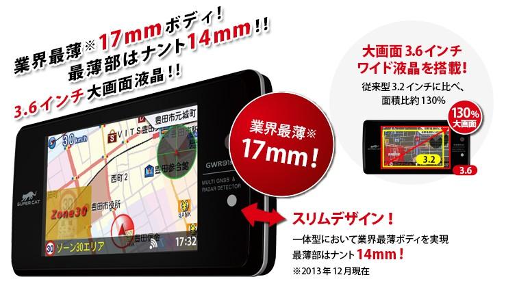 3.6インチ大画面液晶!最薄部14mmのスリムデザイン