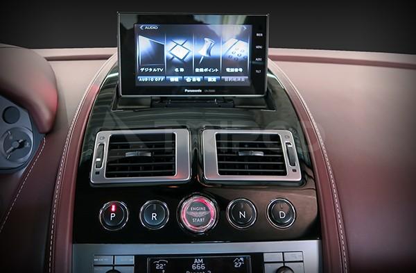 【AM-PU01BK】Aston Martin アストンマーティン 用 艶ありブラックパネル ポップアップナビキット