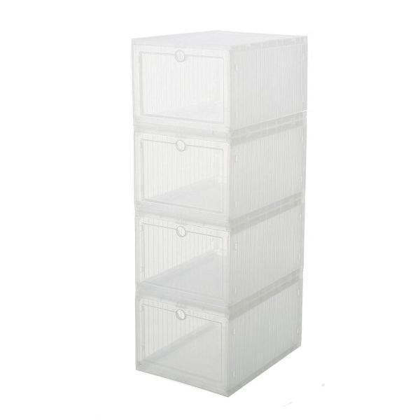 スニーカー収納ボックス  タワーボックス シューズラック 靴収納箱 組立  4個1セット|troskan|14