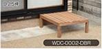 Rocking Table(ロッキングテーブル) 天然木ウッドデッキ 0.25坪 ダークブラウン WDC-0002-DBR [カラー:ダークブラウン]
