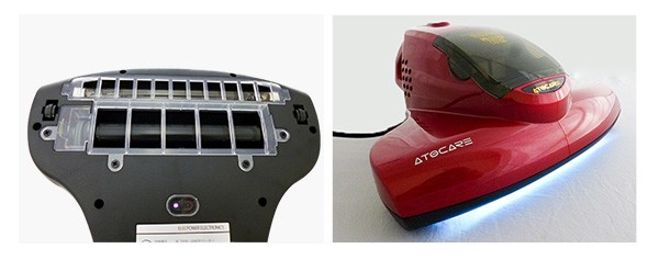 吸込仕事率209.9Wの強力吸引モーターと回転ブラシ、UV照射