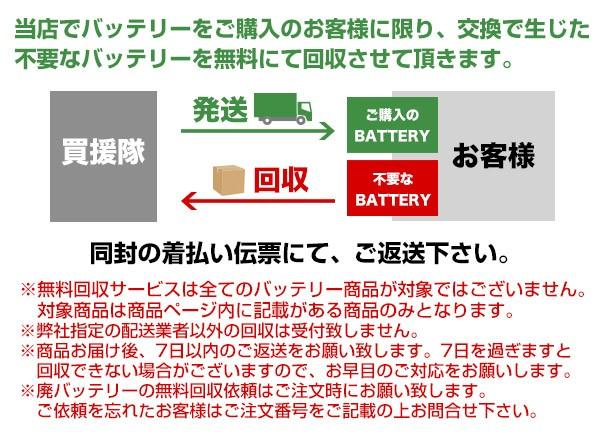 廃バッテリー無料回収サービス説明