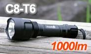 強力1000ルーメン LEDフラッシュライト C8-T6 Trustfire 正規品 トラストファイア