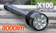 超強力8000ルーメン プロ仕様LEDフラッシュライト X100 Trustfire 正規品 トラストファイア