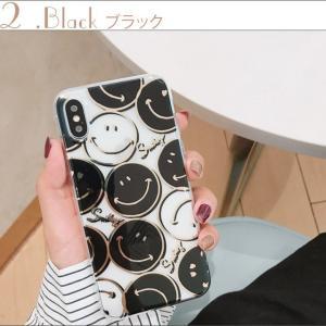 iPhoneXR ケース iPhoneXs Max ケース 8 おしゃれ Plus 7 6s クリアケース スマイル ニコちゃん プラス SMILE アイフォン アイホンカバー  スマホ 黄黒|tsaden|08