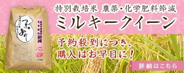農薬化学肥料節減ミルキークイーン