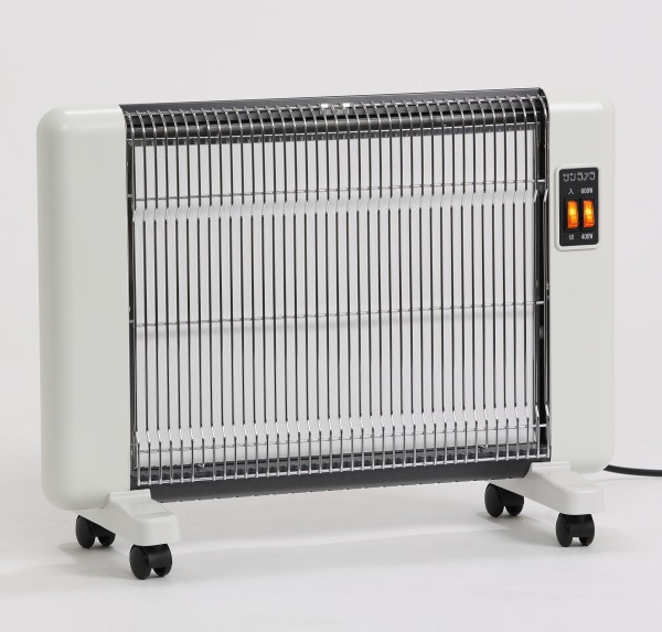 遠赤外線セラミック・パネルヒーター サンラメラ 600W ホワイト