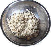 明太子レシピ 明太子をタップリと使った豆腐しぐれのヘルシー三色どんぶり