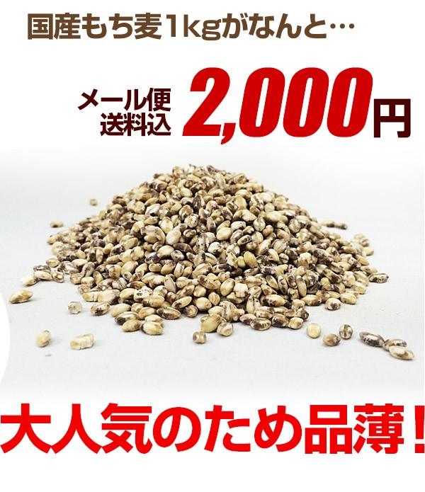 もち麦2000円送料無料