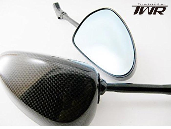 TWR製/カーボンミラー/SIMOTA OEM/ロングステムカーボンミラー/135mmステム/ネイキッドバイクにお薦め/57cm〜61cm/ライトスモーク/アドレスV125Sバンディット250ジェンマYBR125マジェスティ250