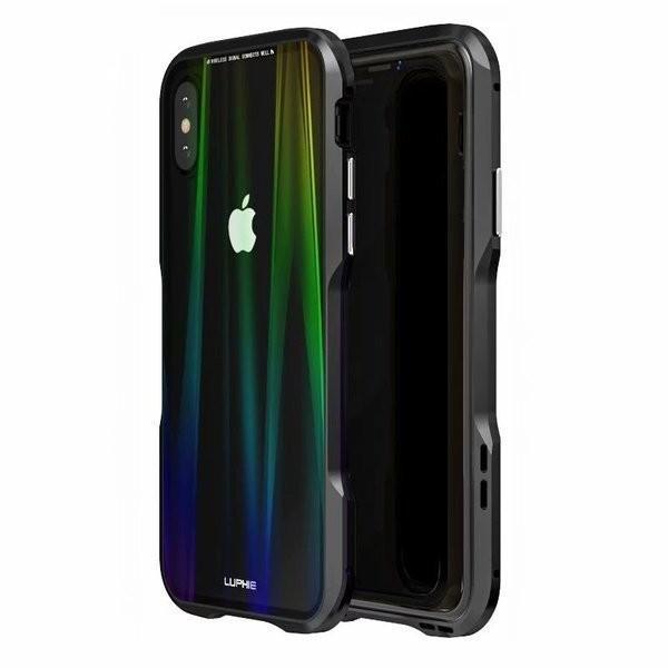 iPhoneX iPhone X ケース カバー iPhoneXケース 磁石止め アルミ マグネット ガラスフィルム 進呈|u-link2|11