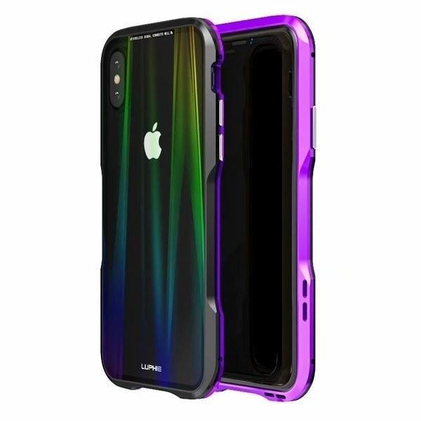 iPhoneX iPhone X ケース カバー iPhoneXケース 磁石止め アルミ マグネット ガラスフィルム 進呈|u-link2|14