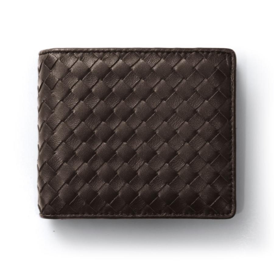 二つ折り財布 財布 本革  ユニセックス ギオネ イントレチャート ウォレット 編み込み ラムレザー メンズ レディース|u-stream|20
