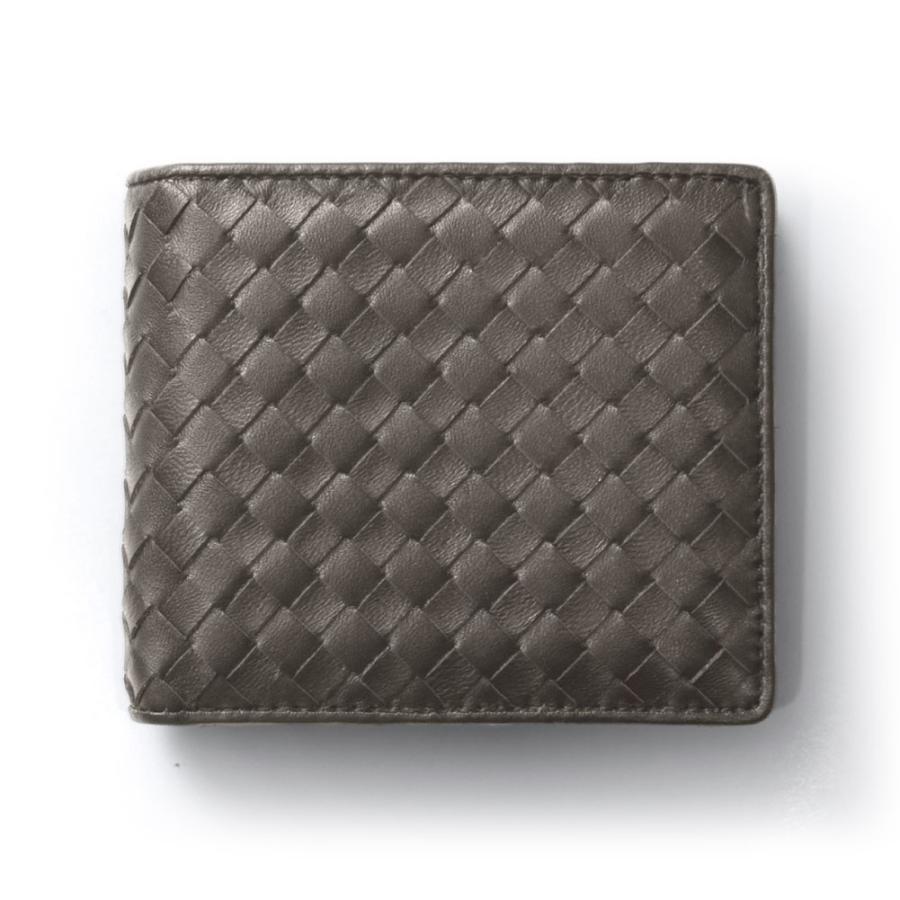 二つ折り財布 財布 本革  ユニセックス ギオネ イントレチャート ウォレット 編み込み ラムレザー メンズ レディース|u-stream|22
