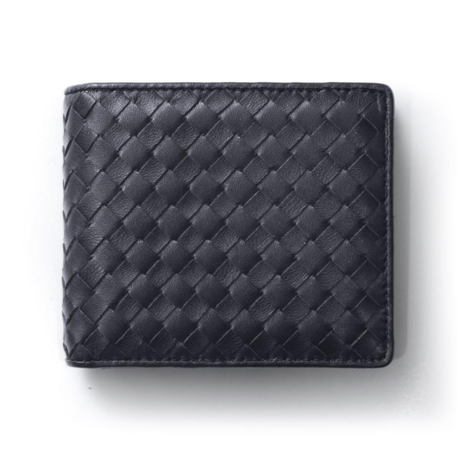 二つ折り財布 財布 本革  ユニセックス ギオネ イントレチャート ウォレット 編み込み ラムレザー メンズ レディース|u-stream|23