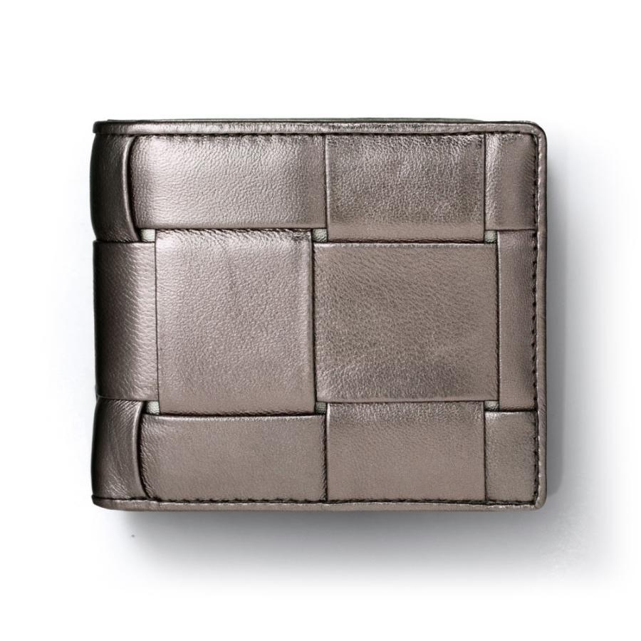 二つ折り財布 財布 本革  ユニセックス ギオネ イントレチャート ウォレット 編み込み ラムレザー メンズ レディース|u-stream|28