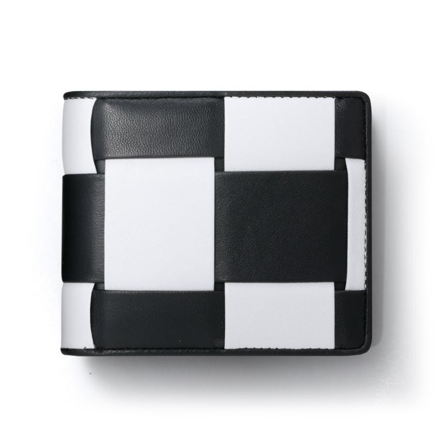 二つ折り財布 財布 本革  ユニセックス ギオネ イントレチャート ウォレット 編み込み ラムレザー メンズ レディース|u-stream|29