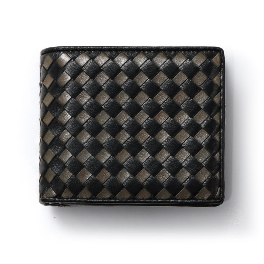 二つ折り財布 財布 本革  ユニセックス ギオネ イントレチャート ウォレット 編み込み ラムレザー メンズ レディース|u-stream|30