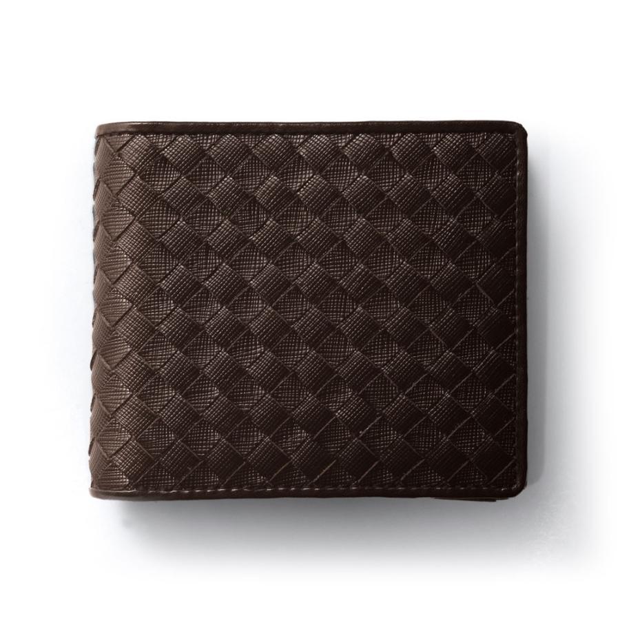 二つ折り財布 財布 本革  ユニセックス ギオネ イントレチャート ウォレット 編み込み ラムレザー メンズ レディース|u-stream|33