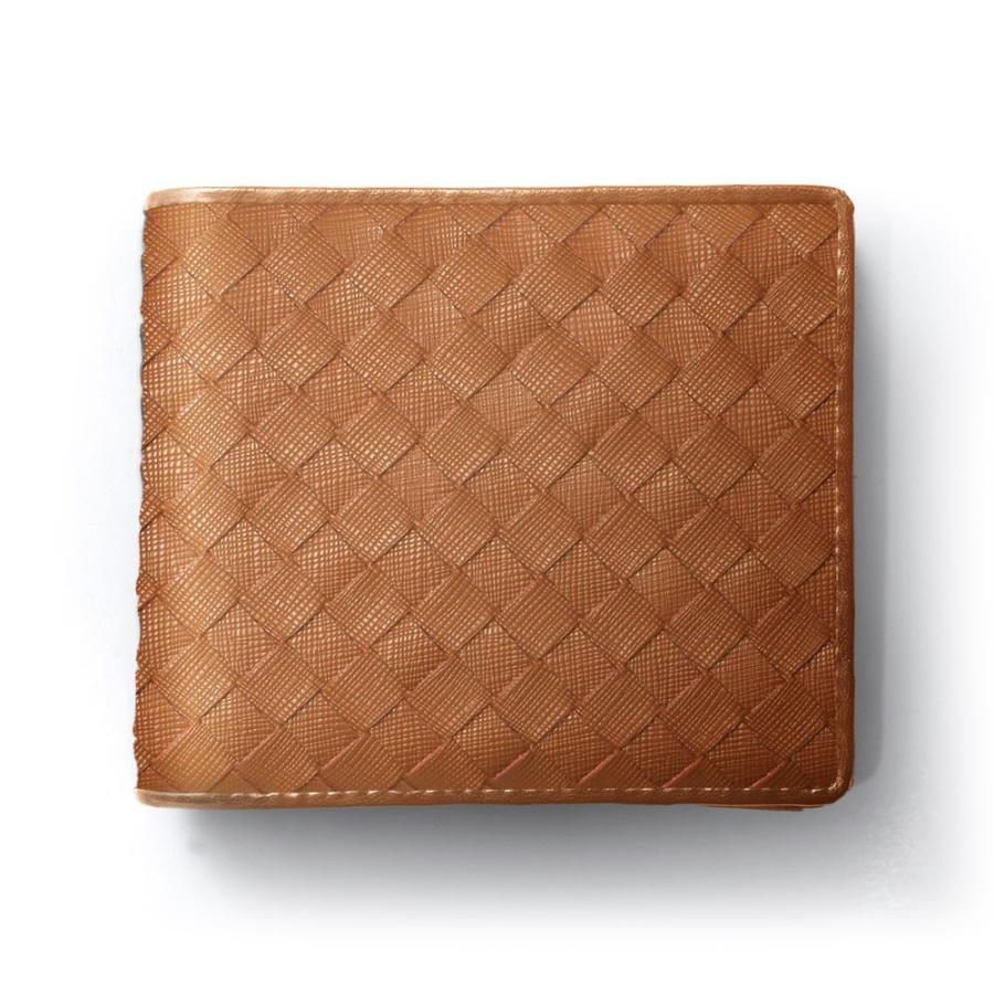二つ折り財布 財布 本革  ユニセックス ギオネ イントレチャート ウォレット 編み込み ラムレザー メンズ レディース|u-stream|34