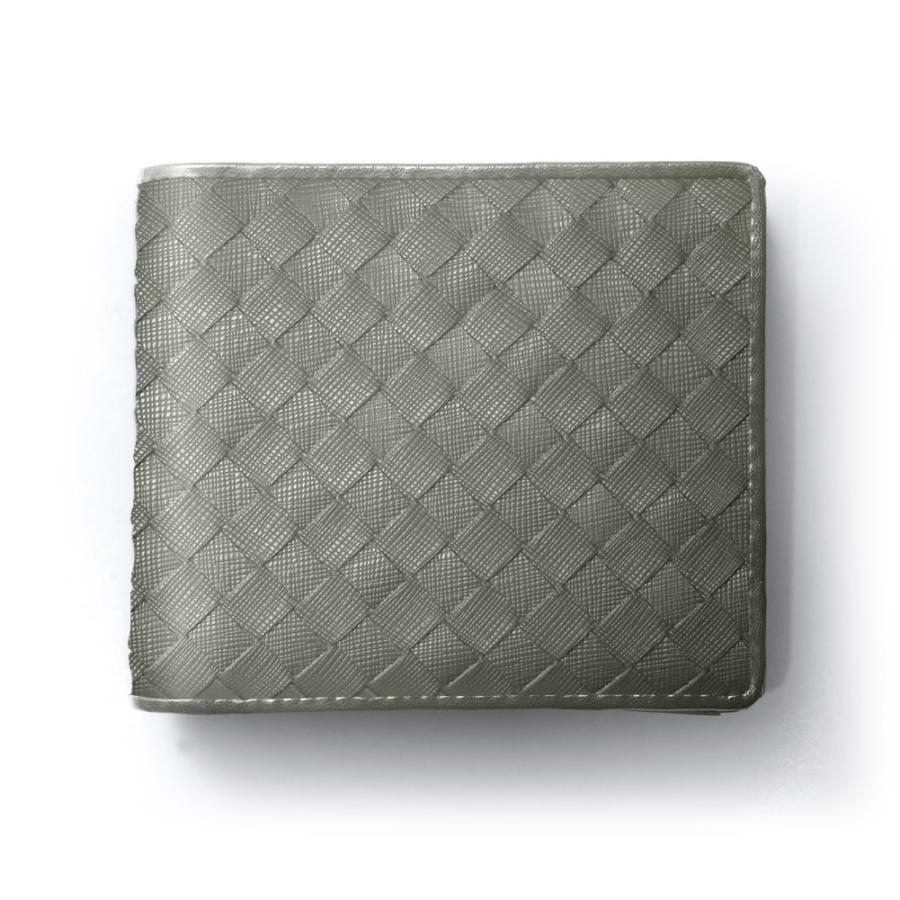 二つ折り財布 財布 本革  ユニセックス ギオネ イントレチャート ウォレット 編み込み ラムレザー メンズ レディース|u-stream|35