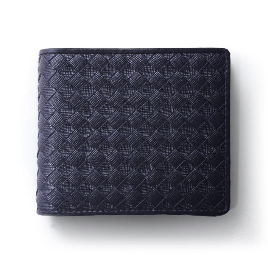 二つ折り財布 財布 本革  ユニセックス ギオネ イントレチャート ウォレット 編み込み ラムレザー メンズ レディース|u-stream|36