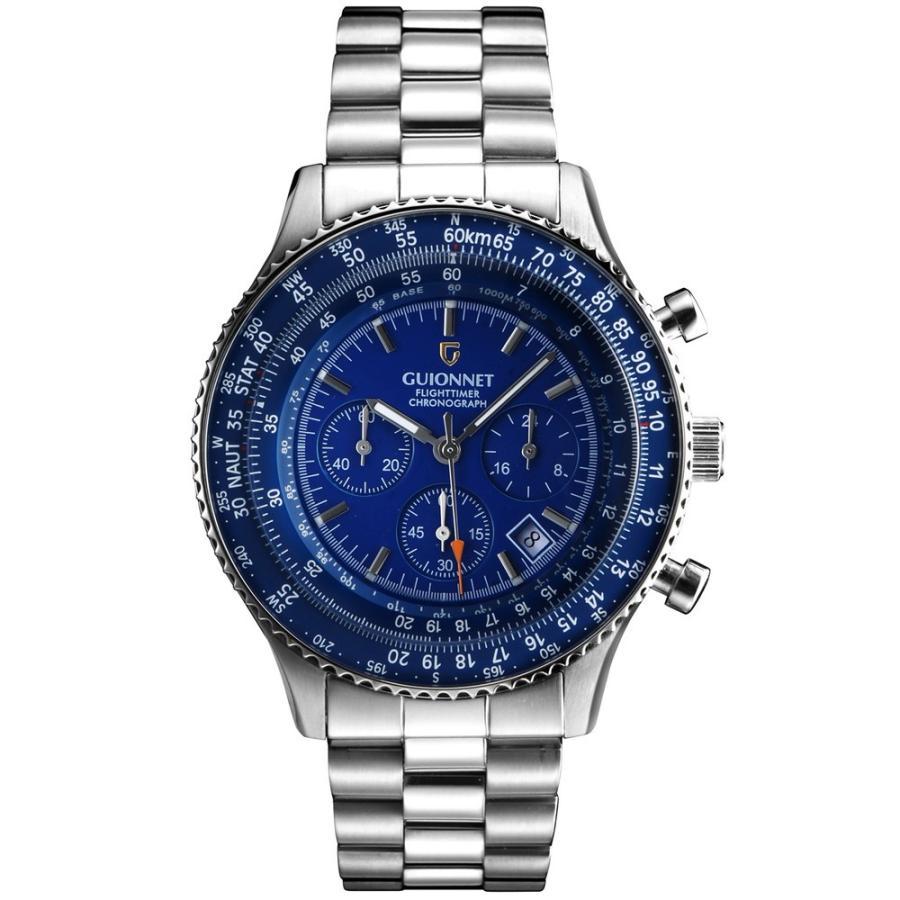 腕時計 メンズ おしゃれ アナログ ウォッチ パイロット クロノグラフ ビジネス 革 メンズ腕時計 フライトタイマー|u-stream|23