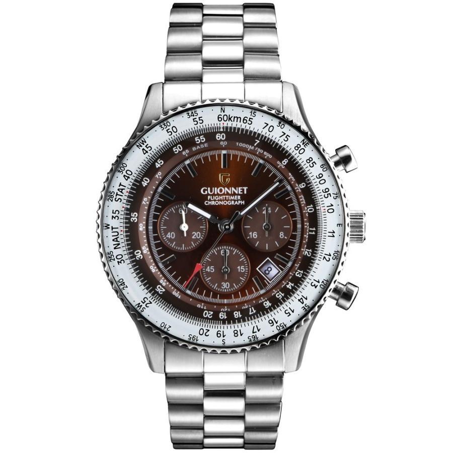 腕時計 メンズ おしゃれ アナログ ウォッチ パイロット クロノグラフ ビジネス 革 メンズ腕時計 フライトタイマー|u-stream|24