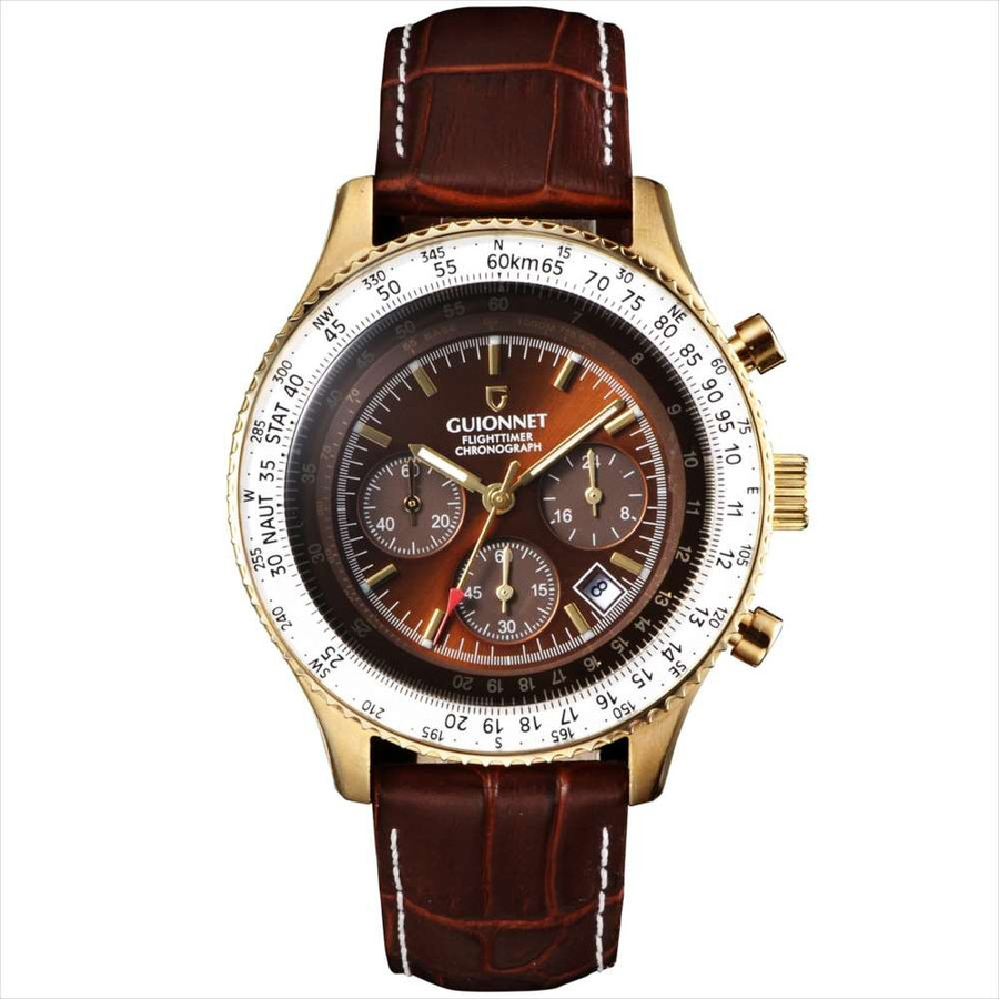 腕時計 メンズ おしゃれ アナログ ウォッチ パイロット クロノグラフ ビジネス 革 メンズ腕時計 フライトタイマー|u-stream|27