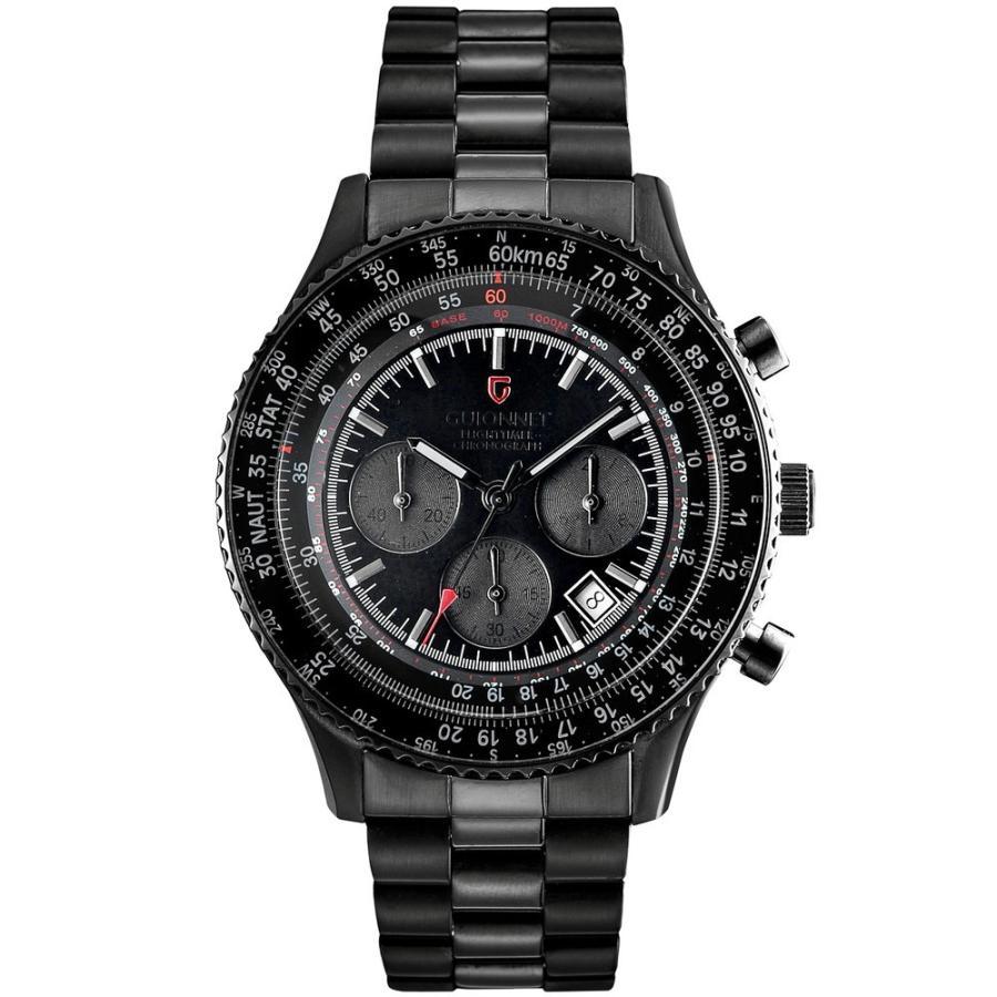 腕時計 メンズ おしゃれ アナログ ウォッチ パイロット クロノグラフ ビジネス 革 メンズ腕時計 フライトタイマー|u-stream|28