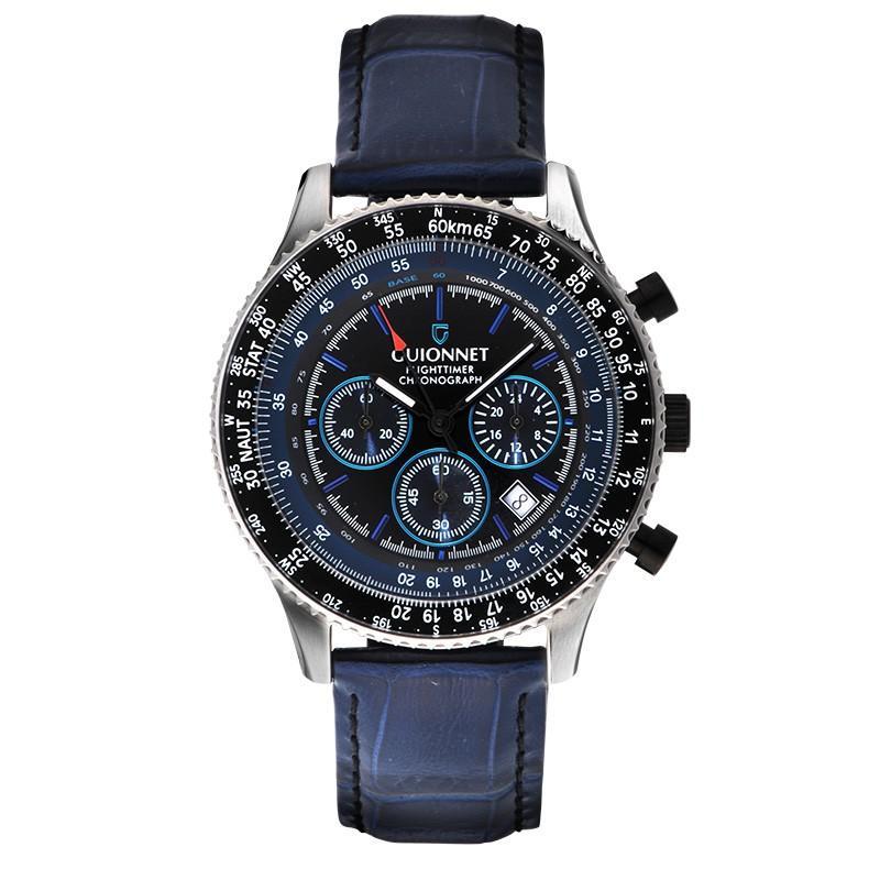 腕時計 メンズ おしゃれ アナログ ウォッチ パイロット クロノグラフ ビジネス 革 メンズ腕時計 フライトタイマー|u-stream|29