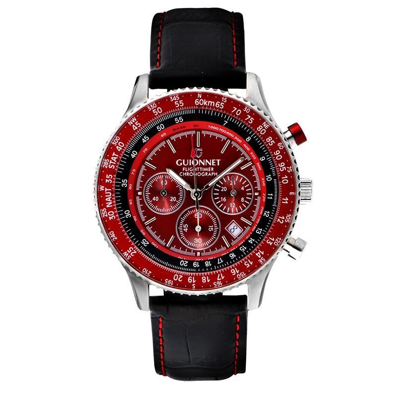 腕時計 メンズ おしゃれ アナログ ウォッチ パイロット クロノグラフ ビジネス 革 メンズ腕時計 フライトタイマー|u-stream|30