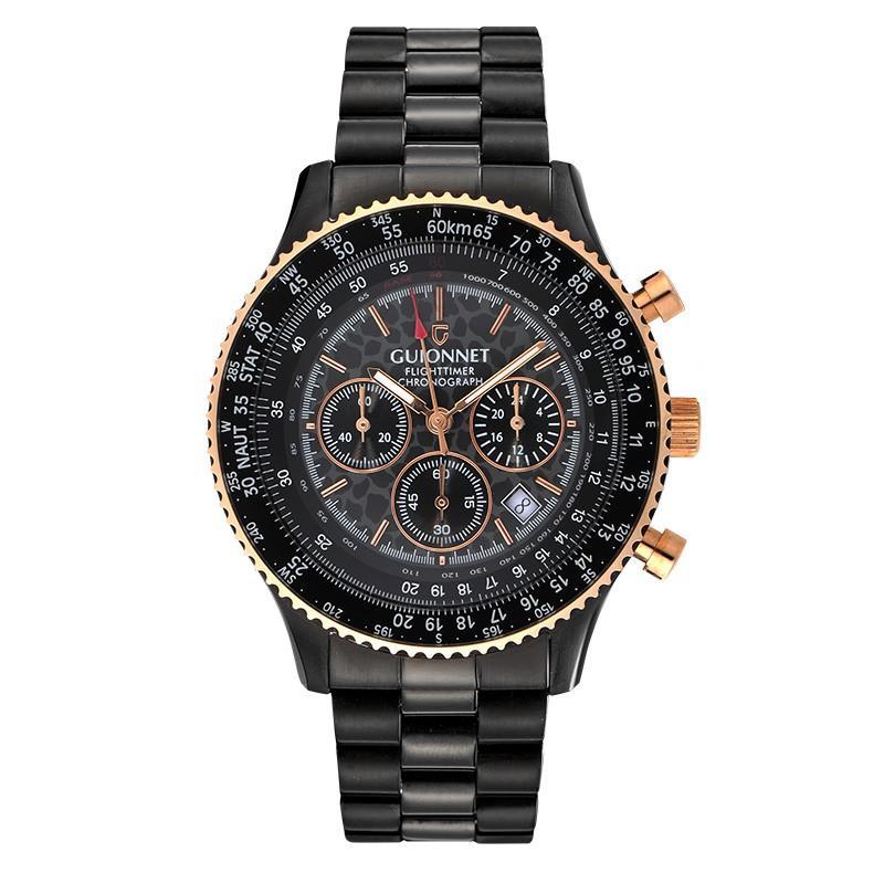 腕時計 メンズ おしゃれ アナログ ウォッチ パイロット クロノグラフ ビジネス 革 メンズ腕時計 フライトタイマー|u-stream|31