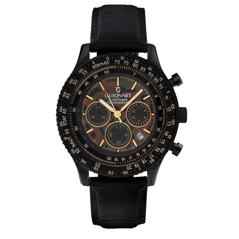 腕時計 メンズ おしゃれ アナログ ウォッチ パイロット クロノグラフ ビジネス 革 メンズ腕時計 フライトタイマー|u-stream|32