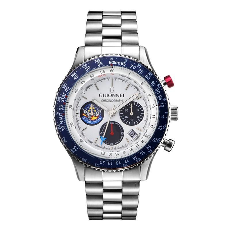 腕時計 メンズ おしゃれ アナログ ウォッチ パイロット クロノグラフ ビジネス 革 メンズ腕時計 フライトタイマー|u-stream|33