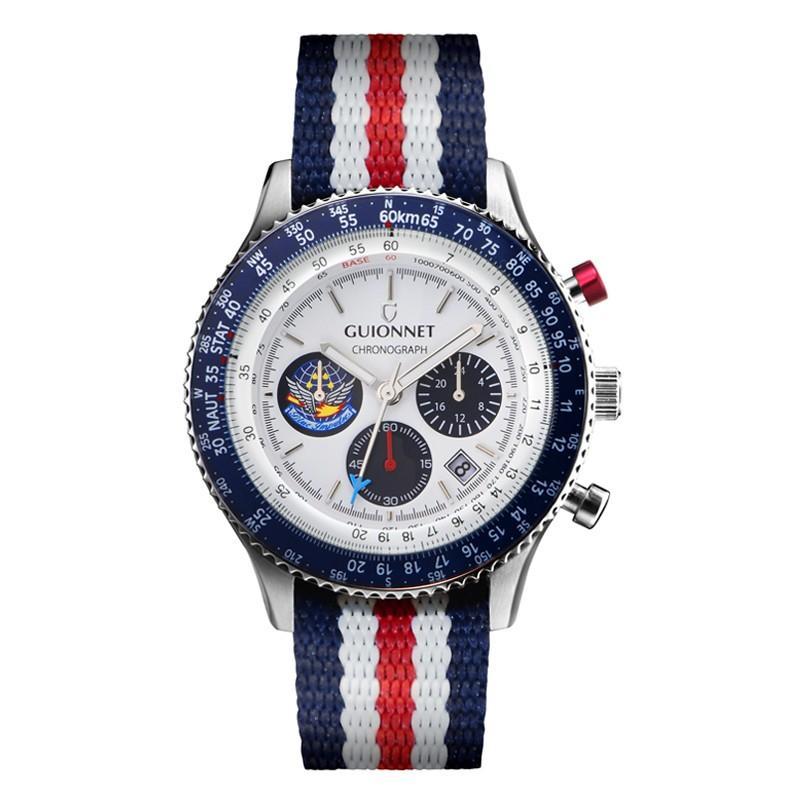腕時計 メンズ おしゃれ アナログ ウォッチ パイロット クロノグラフ ビジネス 革 メンズ腕時計 フライトタイマー|u-stream|34