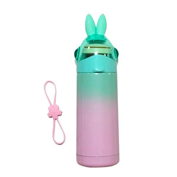 水筒 子供 保温 保冷 魔法瓶 350ml うさ耳がかわいい うさみみ ステンレスボトル |ufo-japan|13