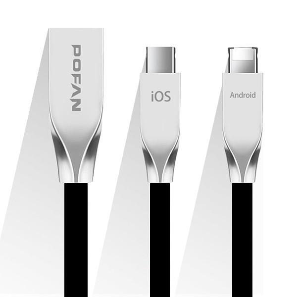 iPhone・Andriod兼用 2in1 高品質 丈夫 USBケーブル USB充電器 急速充電 ios データ転送 断線防止 過電流防止|ufo-japan|08