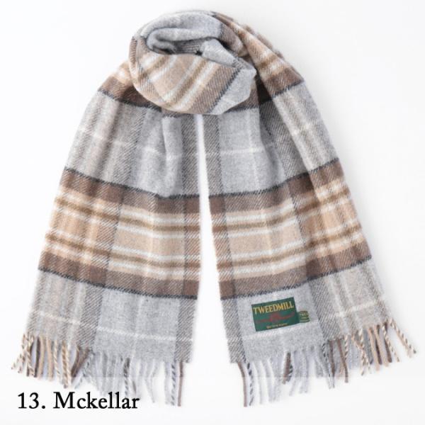 【 ツイードミル 正規】 Tweedmill 183x48cm ストール スカーフ マフラー 送料無料 17色 タータンチェック 限定カラー|ukclozest|24