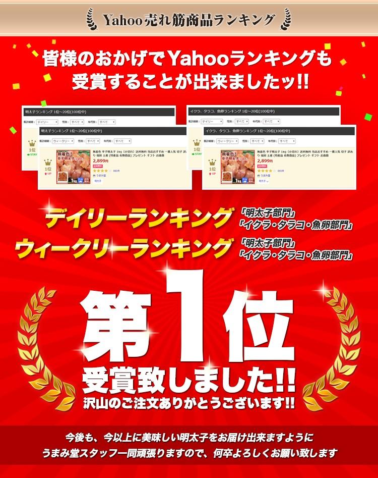 明太子人気ランキング 1位 イクラ、タラコ、魚卵人気ランキング 1位