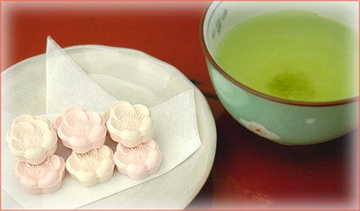 和三盆とお茶