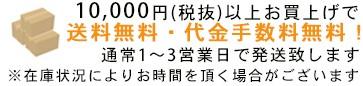 10000円(税抜)以上送料無料・代引手数料無料!正午までのご注文で即日発送