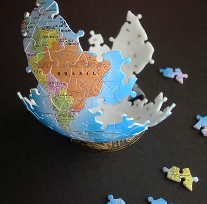 3D地球儀パズル