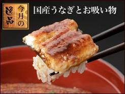 【送料込】うなぎ串蒲焼きとお吸い物