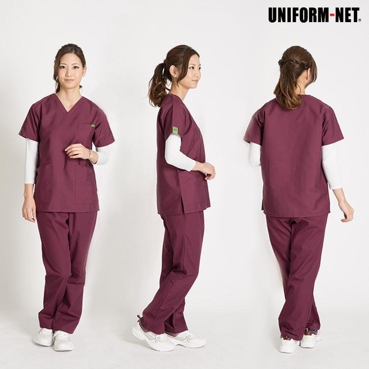 医療用スクラブ レビューを書いて送料無料 男性女性兼用 21色 モデル着用画像2