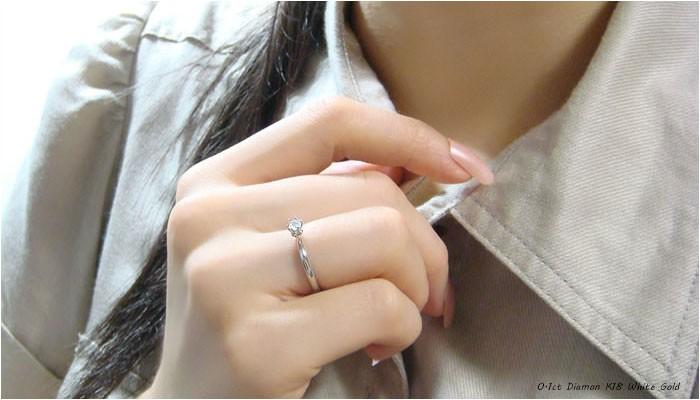 ホワイトゴールド製の指輪