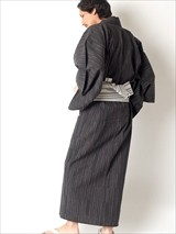 特選シンプル柄・男性用お仕立て上がり浴衣4点セット