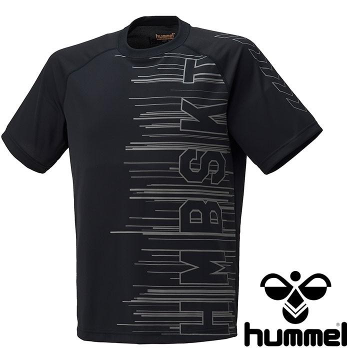 ヒュンメル 速乾性 半袖Tシャツ ヒュンメル バスケ用 スポーツウェア プラクティスTシャツ ブラック